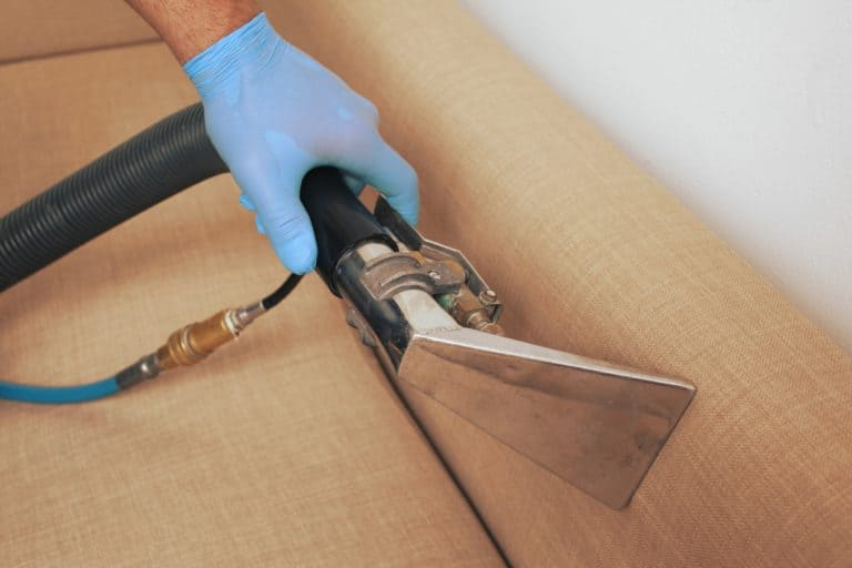 a man cleaning upholstery in wellington