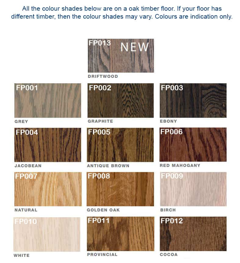 Wooden Floor Stain Colours 2